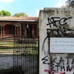 Εικόνα εγκατάλειψης παρουσιάζει το σπίτι του Παύλου Μελά στην Κηφισιά